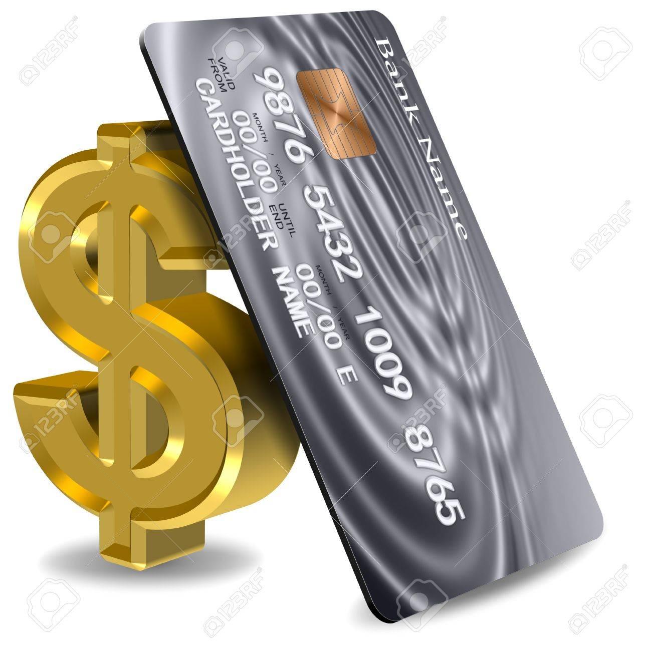 3c1429257b897 Foto de archivo - Platinum tarjeta de crédito apoyado en un símbolo de  dólar de oro
