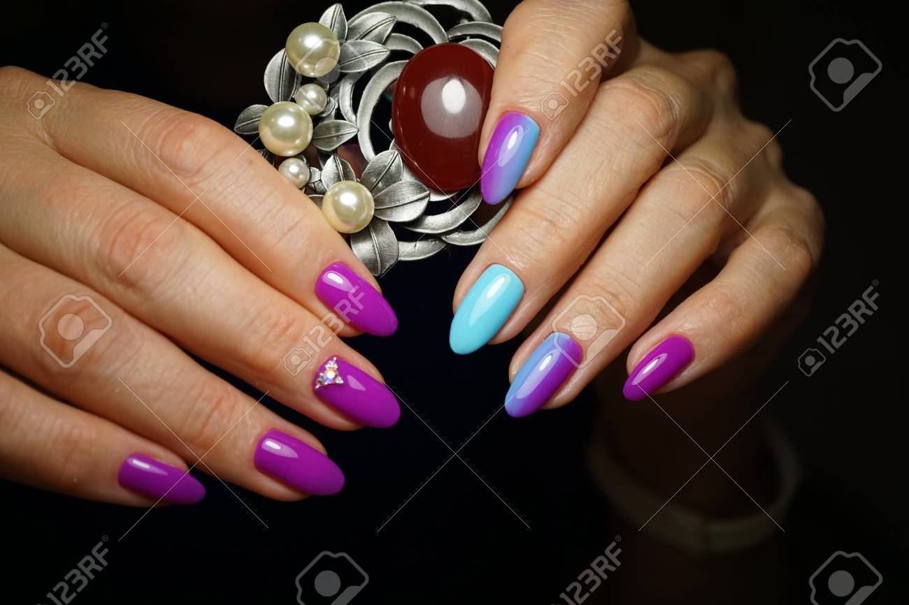 Beautiful Bright Natural Nails With Perfect Clean Manicure. Nail ...