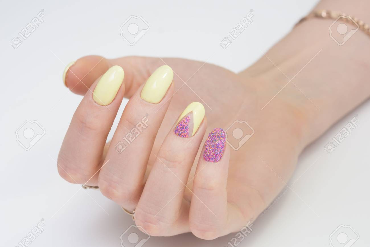 Natural nails and amazing clean manicure. Gel polish applied. - 77893779