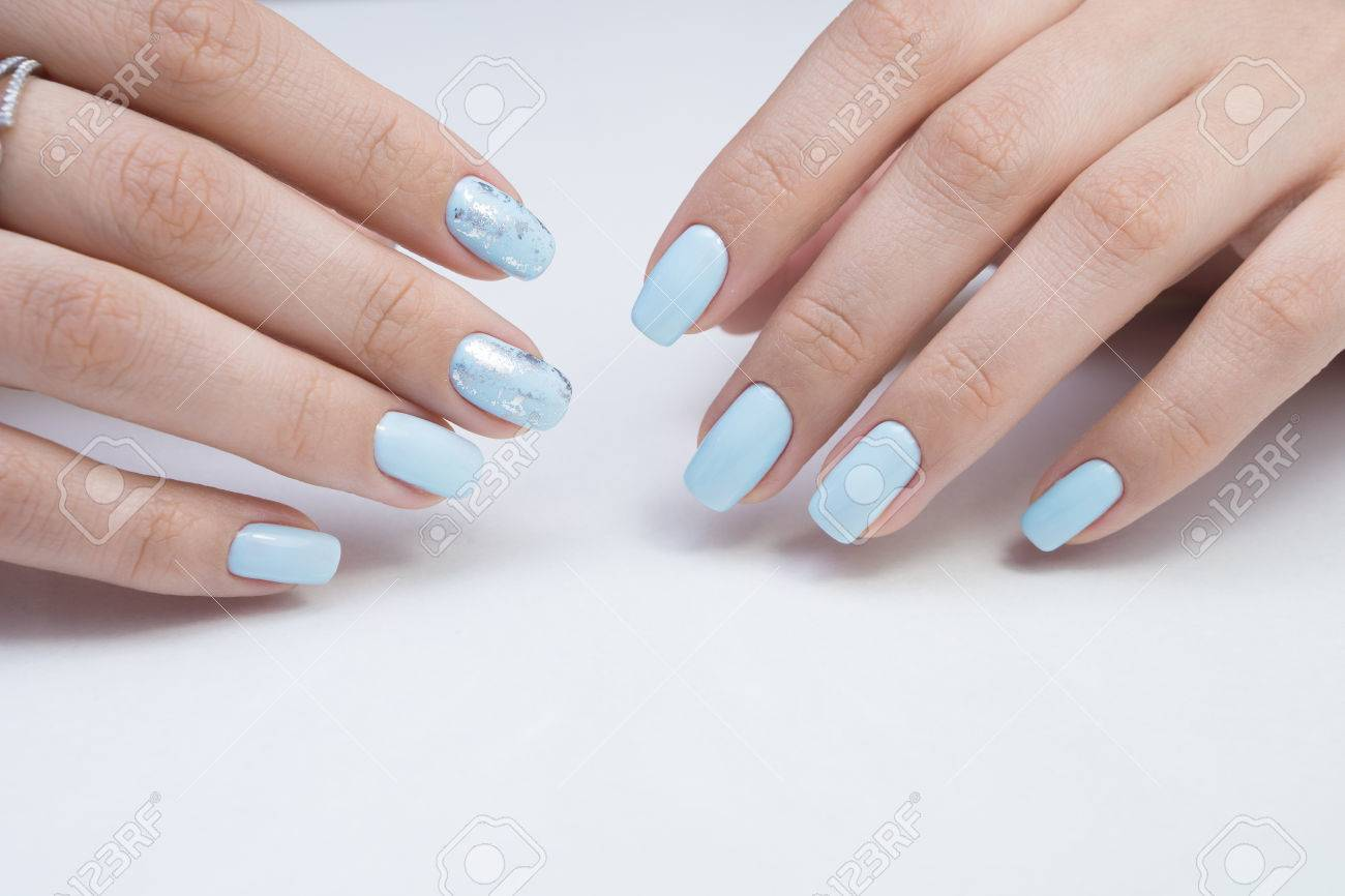 Women\'s Hands And Amazing Natural Nails. Ideal Manicure With.. Stock ...