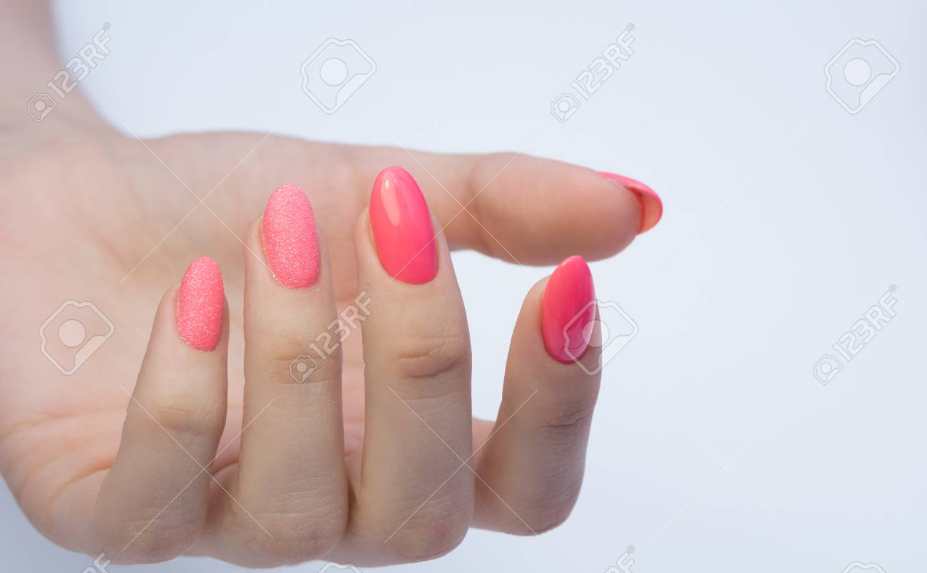 Beautiful manicure and nail art. Natural nails and gel polish. - 81764731