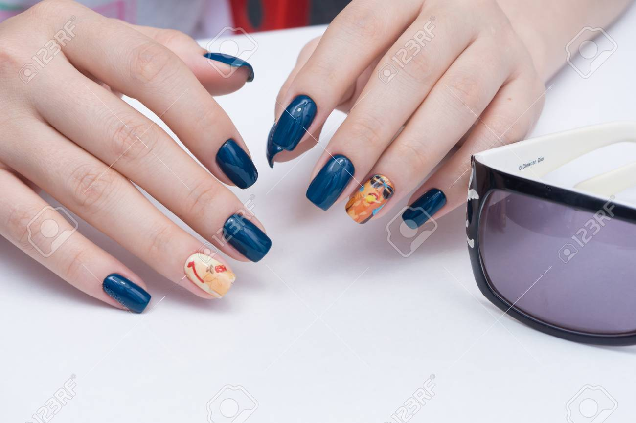 Natural nails with gel polish applied. Ideal manicure and women's hands. - 92337049
