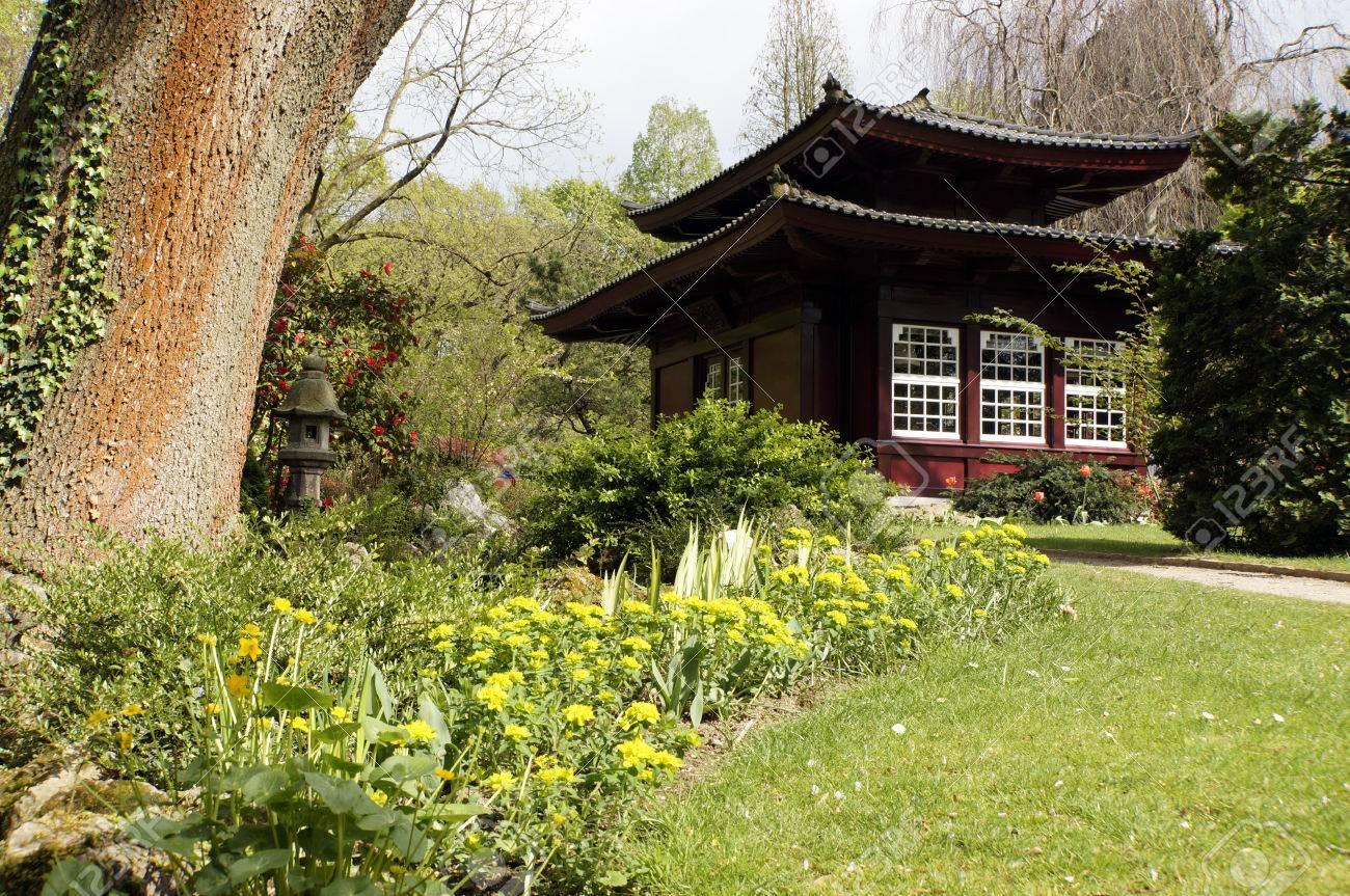 Immagini Stock Casa Di Te Giapponese Leverkusen Renania