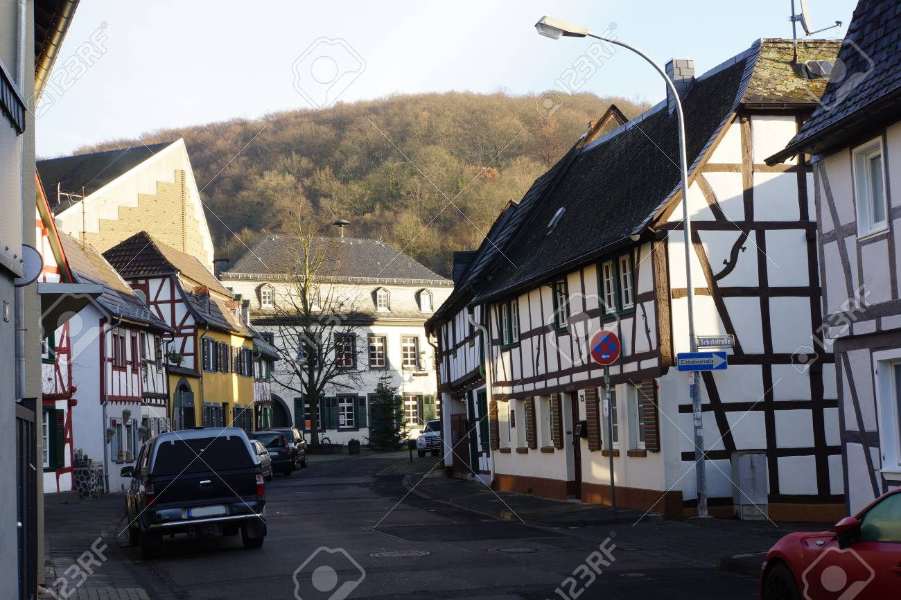 Old Half Timbered House Sinzig Bad Bodendorf Rhineland Palatinate