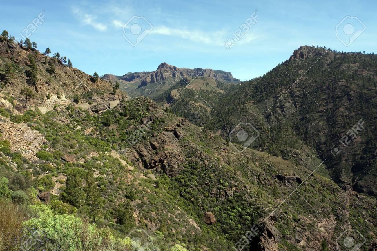 Hike On Roque Nublo In The Landscape Park Parque Rural Del Nublo