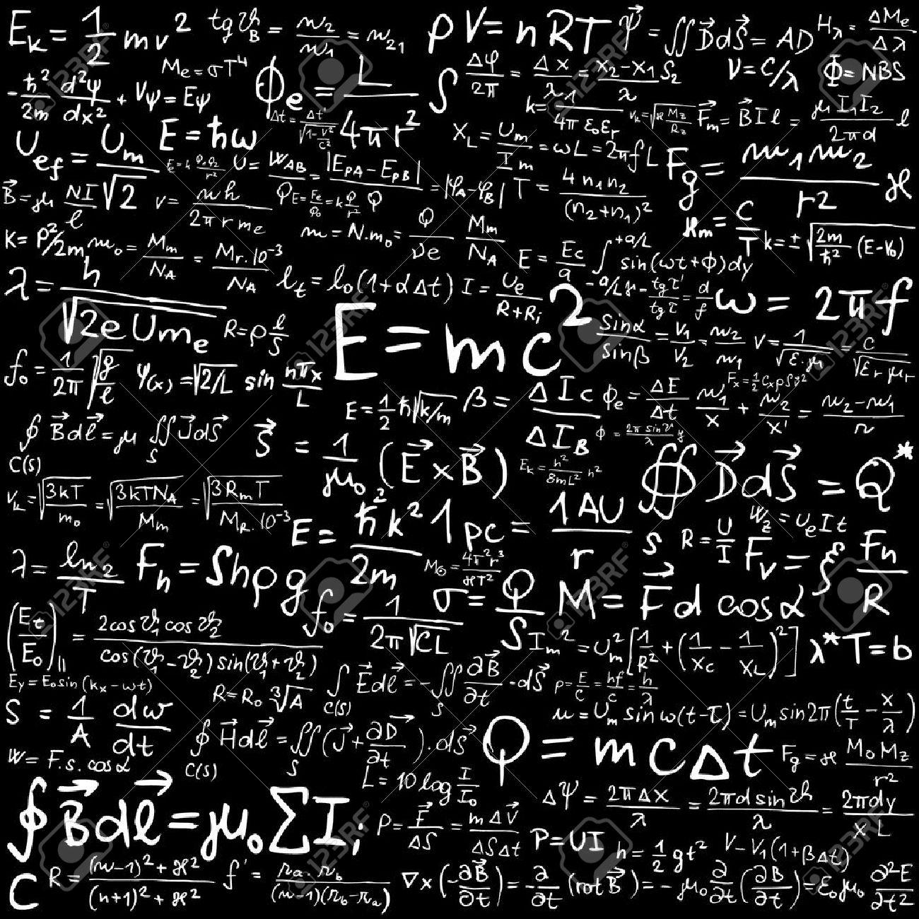 物理的な数式と黒板 ロイヤリテ...