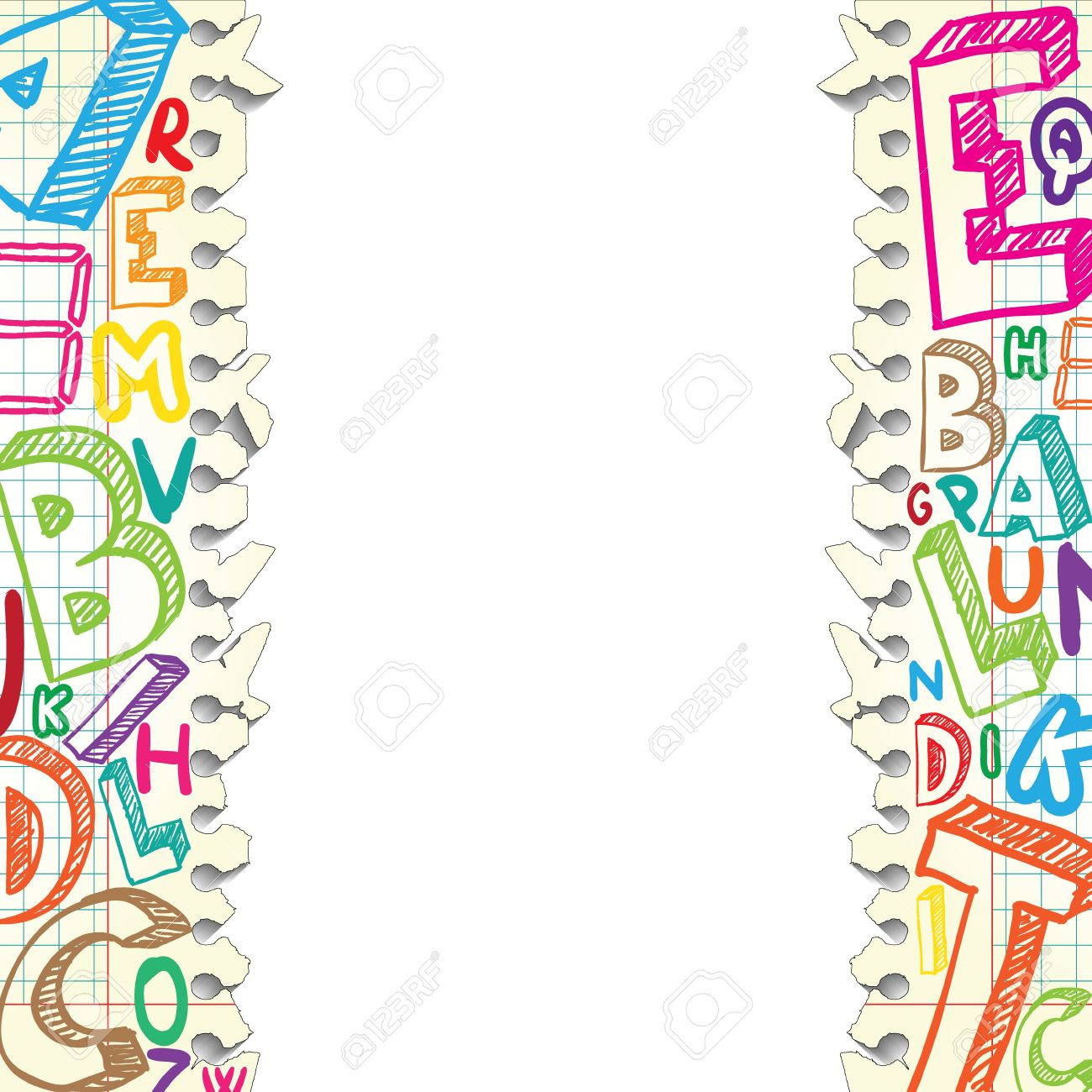 Background made of papers with colorful letters - 14180784