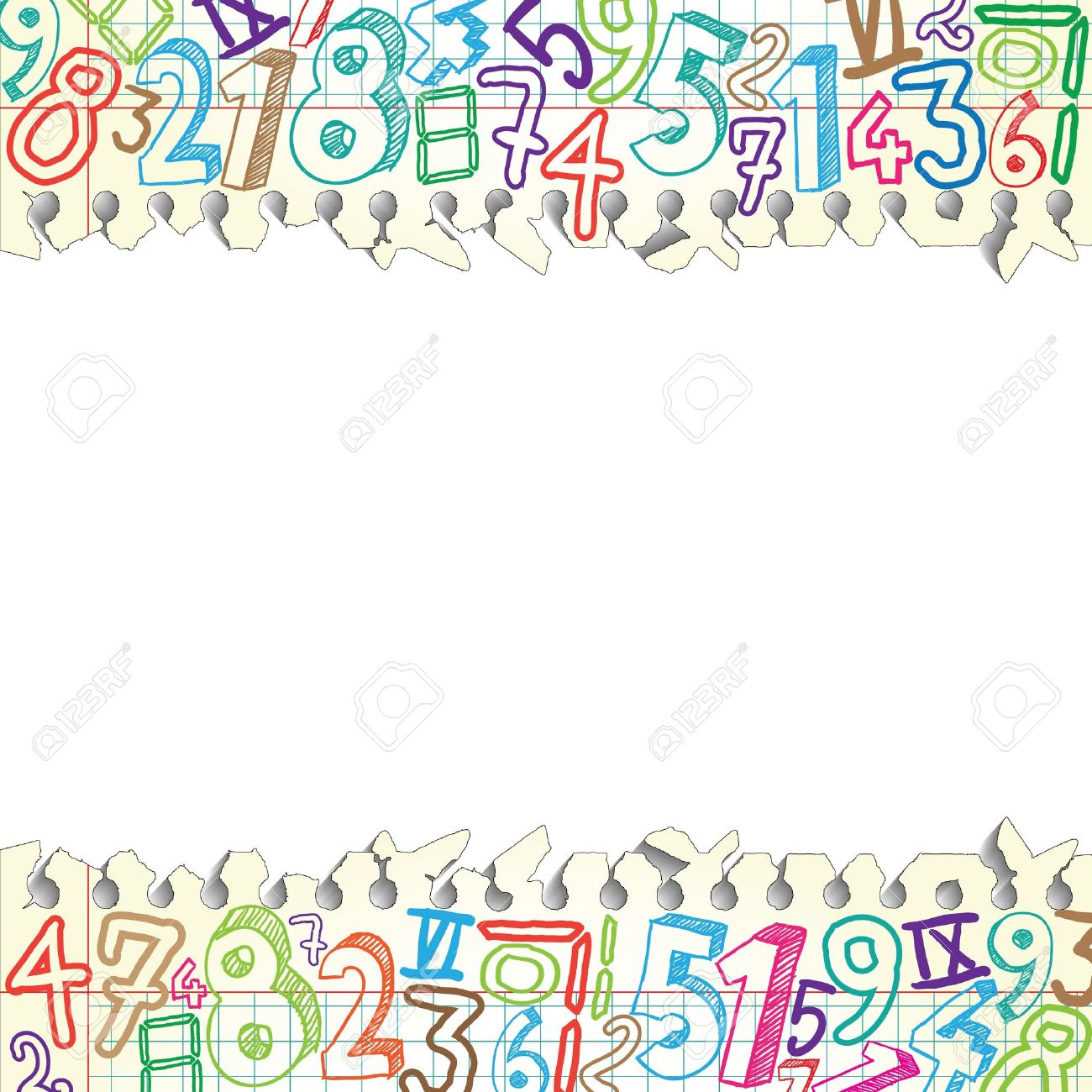 background made of papers with colorful numbers royalty free