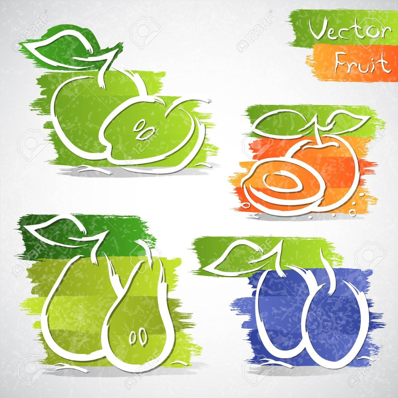 Vector illustration of colorful fruit icon collection Stock Vector - 20341647