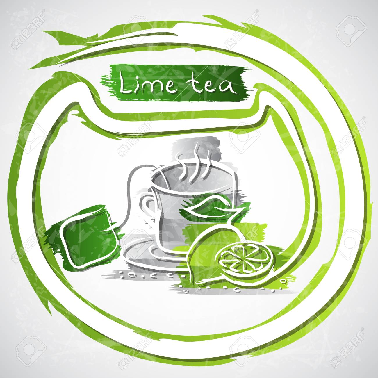 illustration of cup of fruit tea Stock Illustration - 20893173