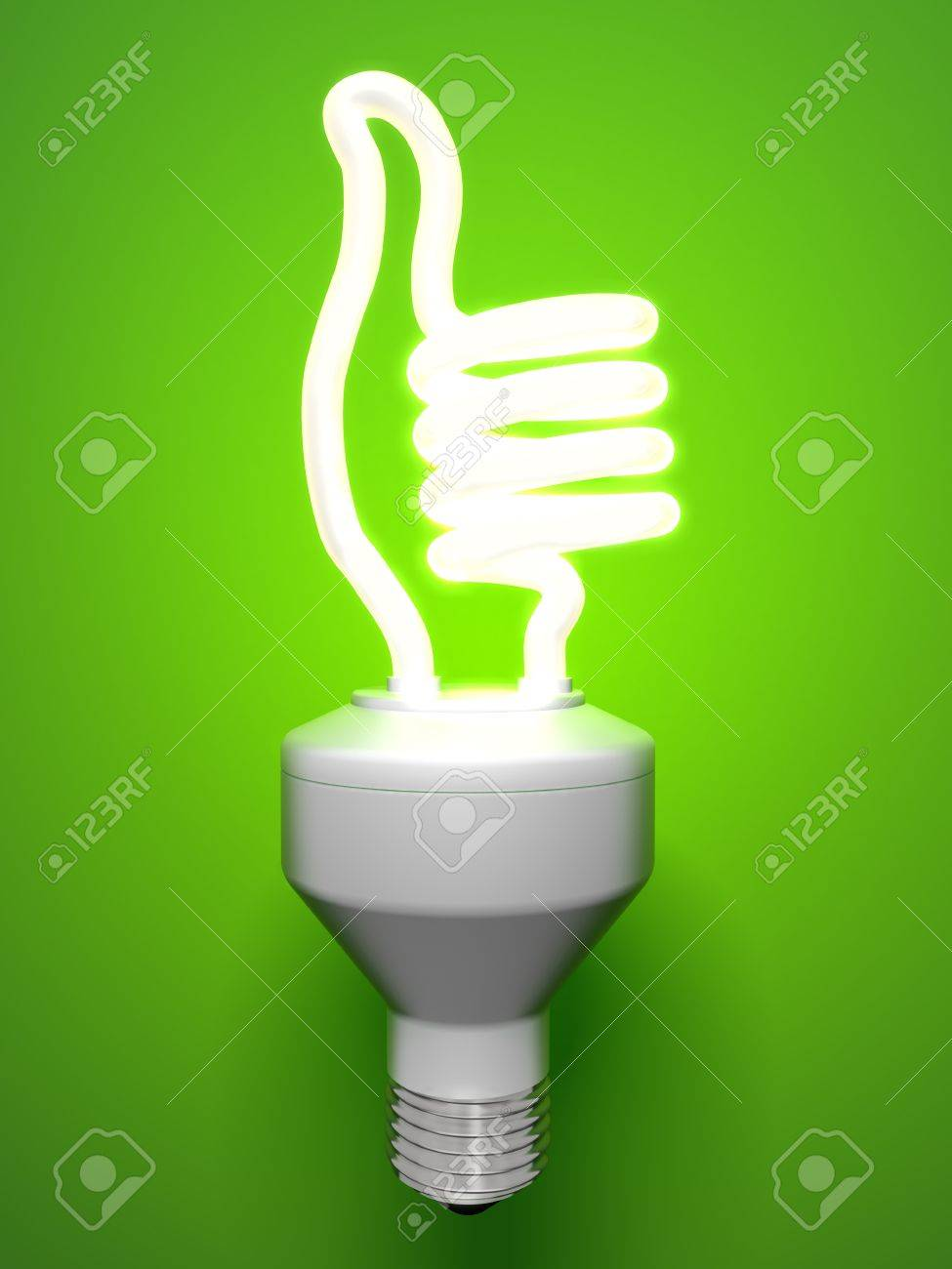 Thumbs Up Compact Fluorescent Lamp Stock Photo - 8431005