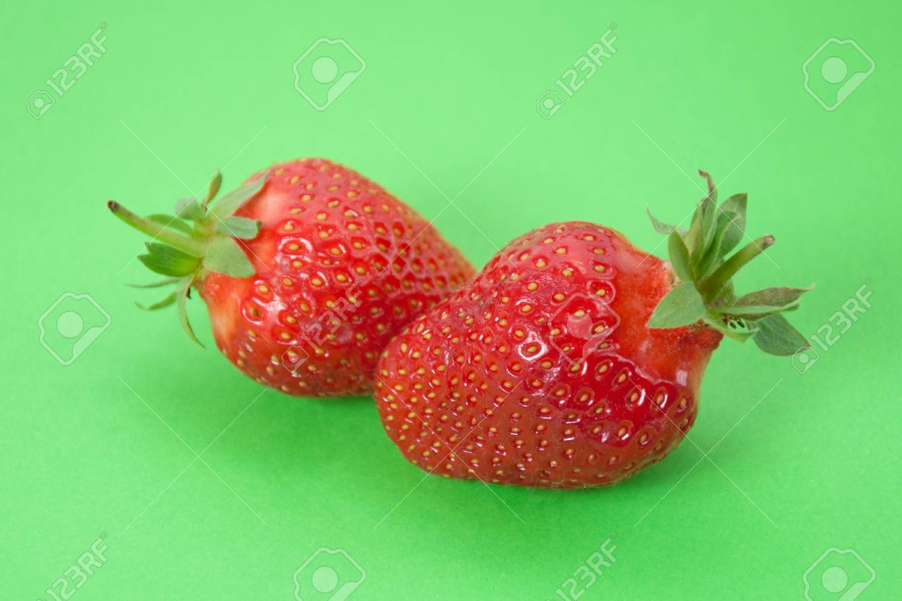 Strawberries  on green background Stock Photo - 14572434