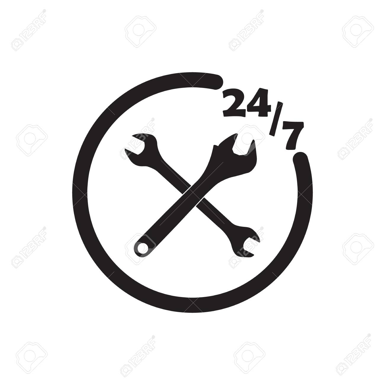 247 technical icon black vector design illustration. - 126398203