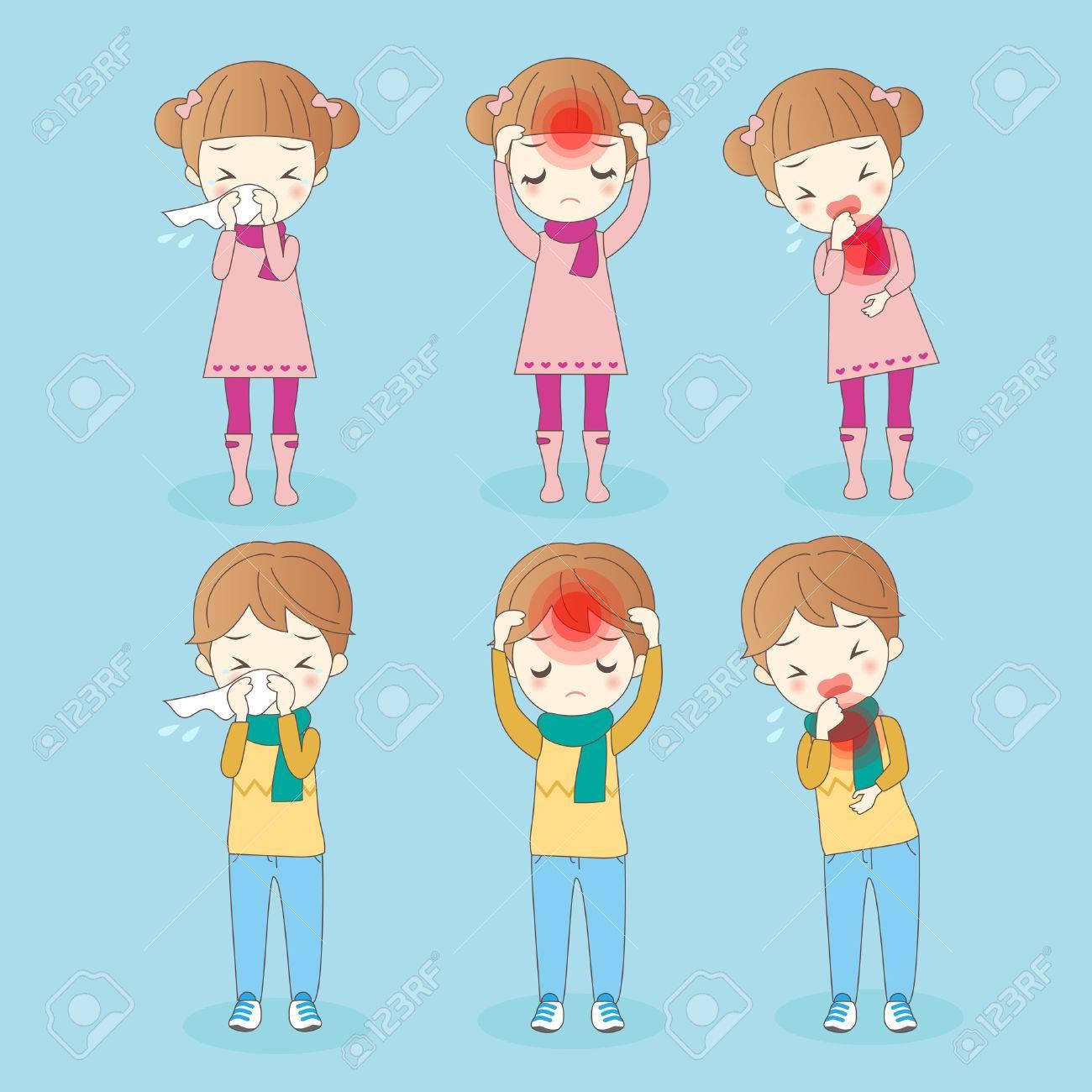 Niños De Dibujos Animados Tiene Un Problema De Salud Ideal Para Su Salud