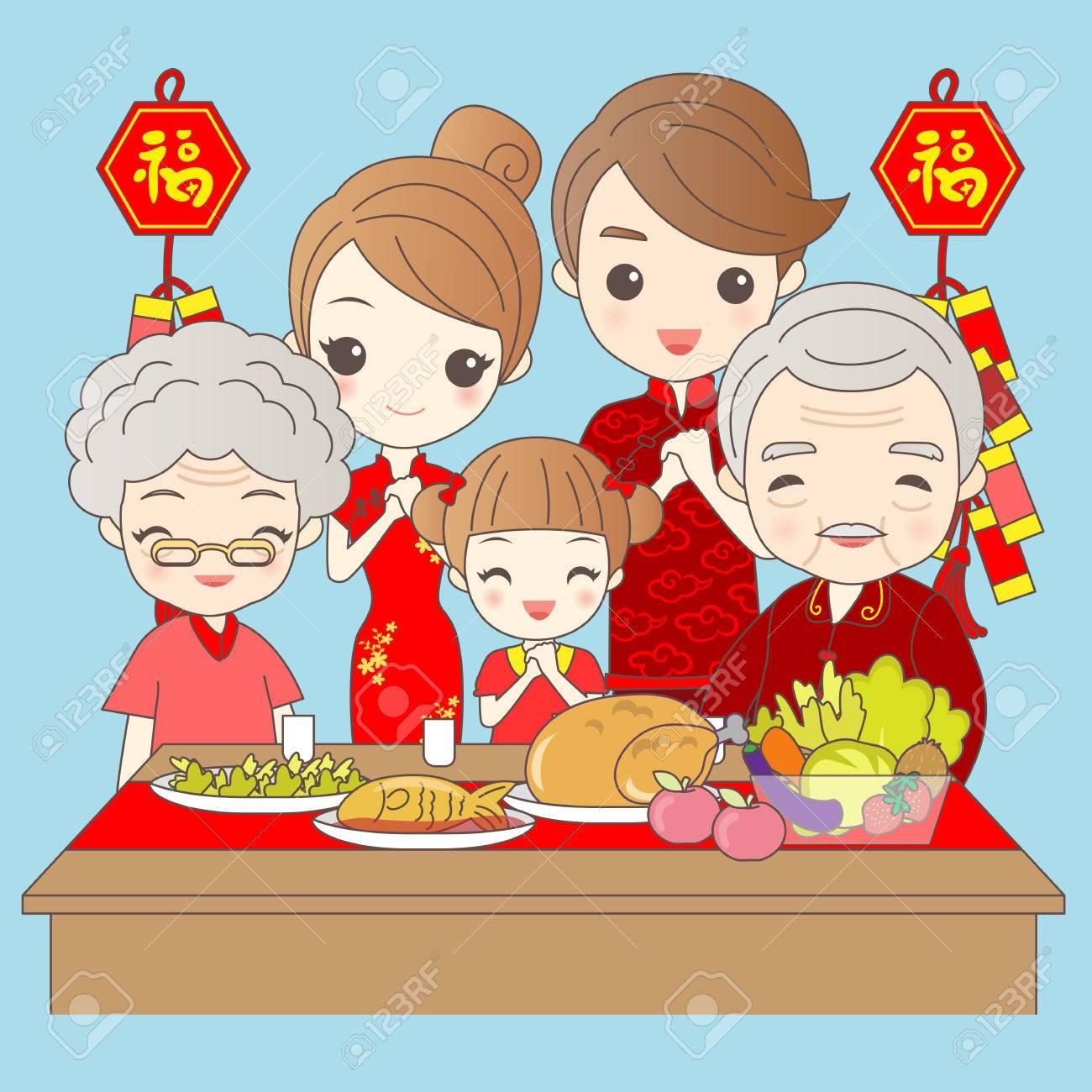 Glückliche Familie Wünscht, Dass Sie Ein Glückliches Neues Jahr ...