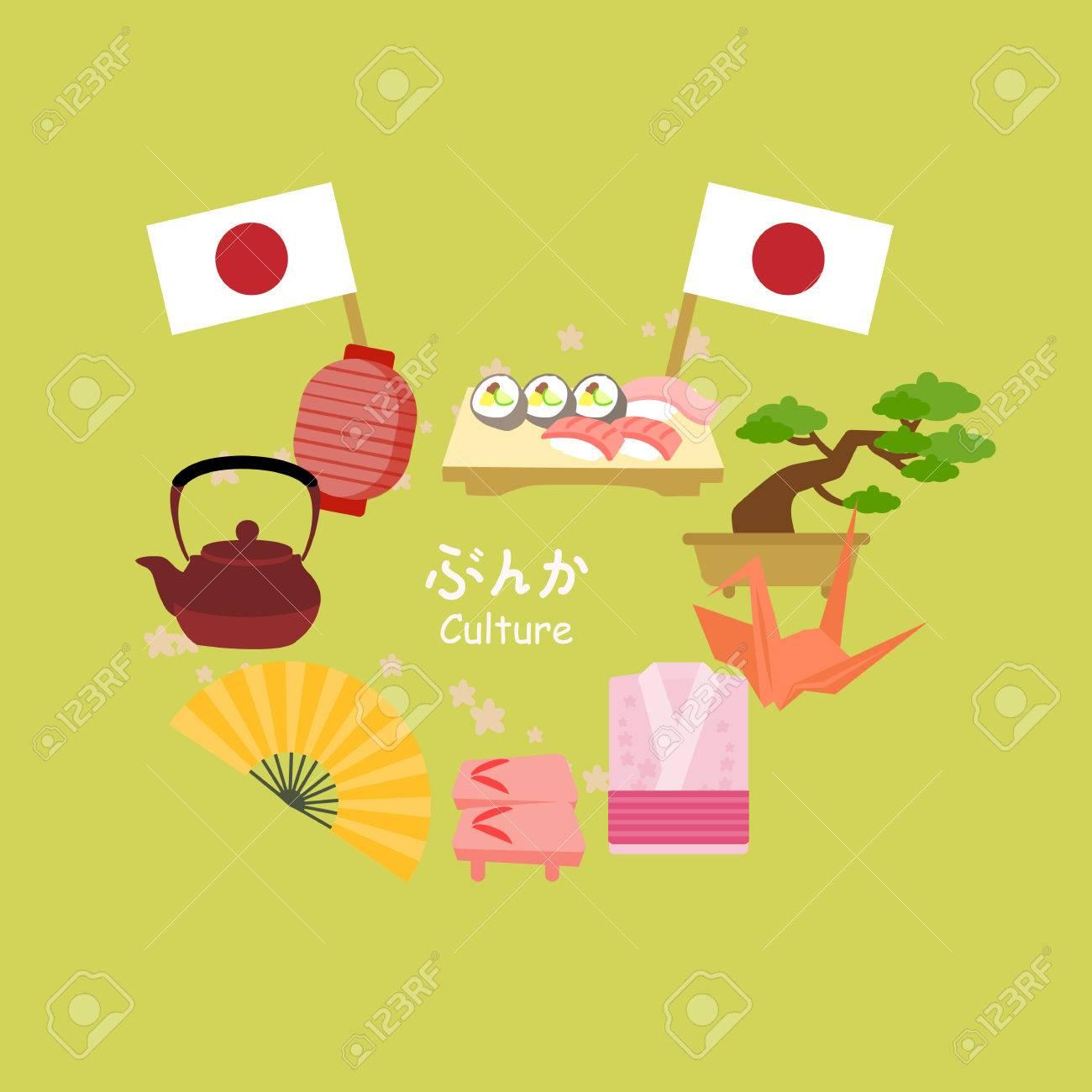 かわいい漫画日本の文化日本文化日本語の単語の中間で ロイヤリティ