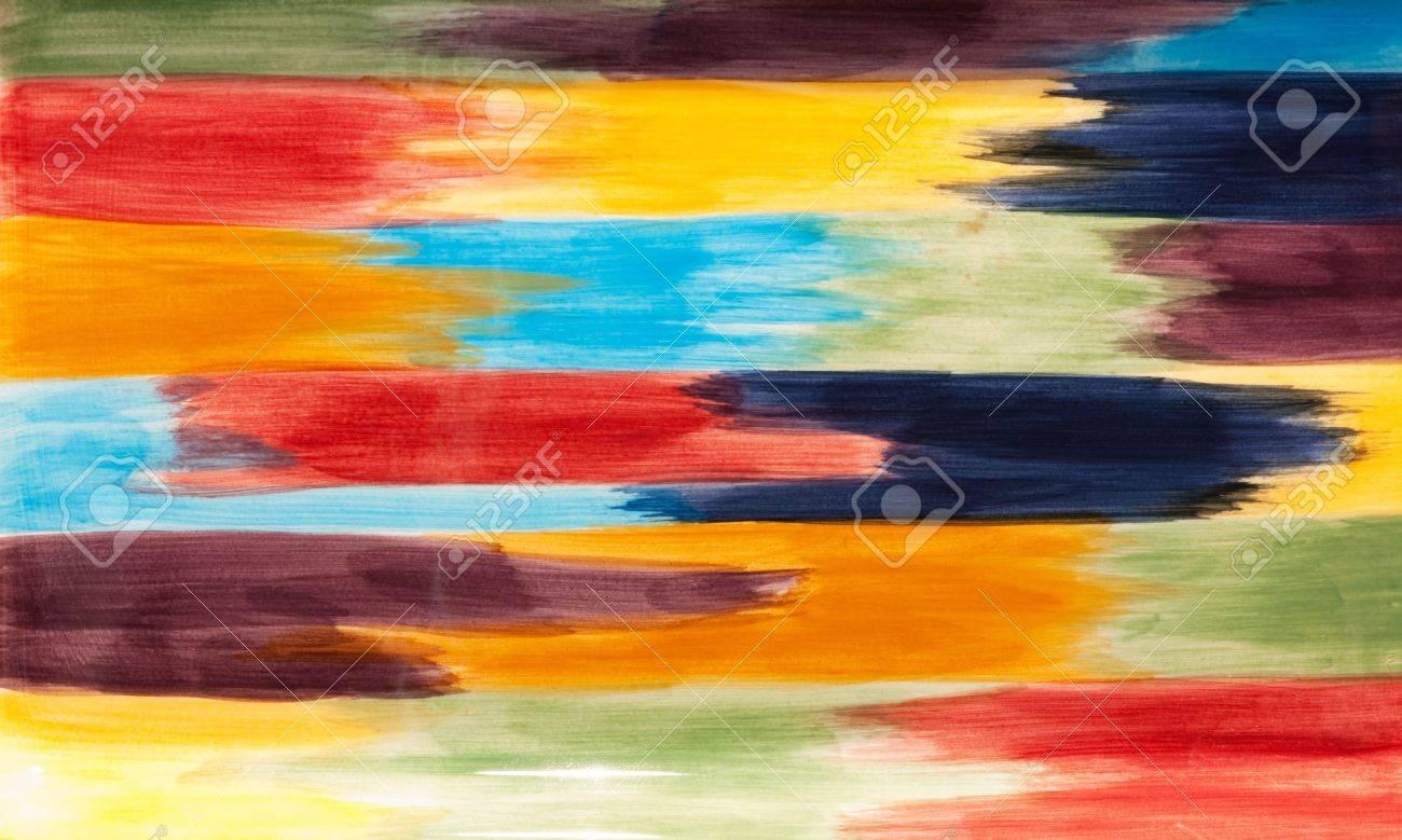 multicolored horizontal art interconnected paint brush strokes Stock Photo - 7059877