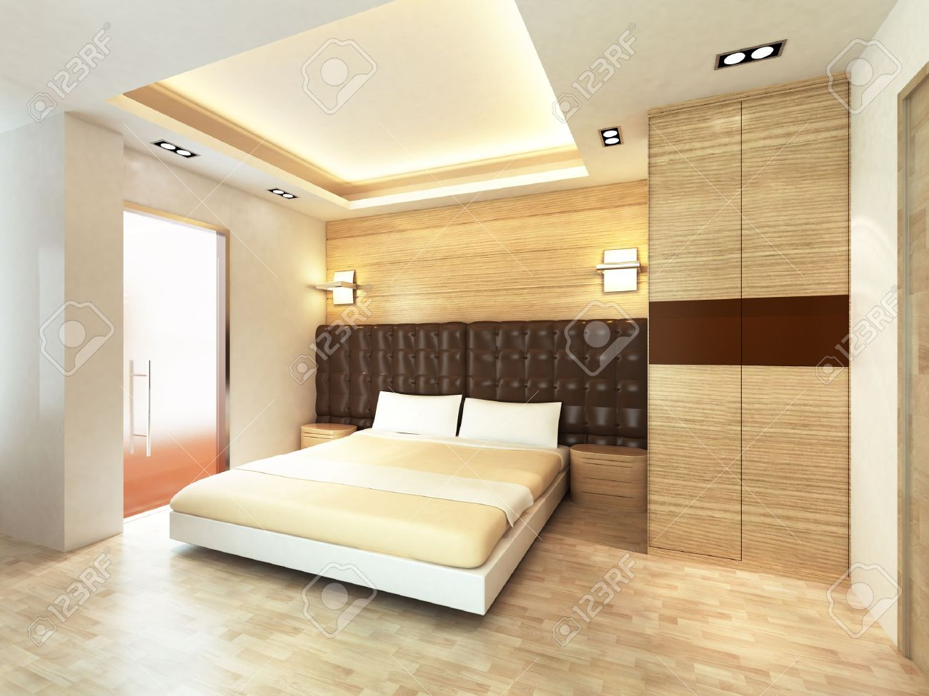 Minimalist Modern Bedroom Modern Bedroom In Minimalist Style Stock Photo Picture And