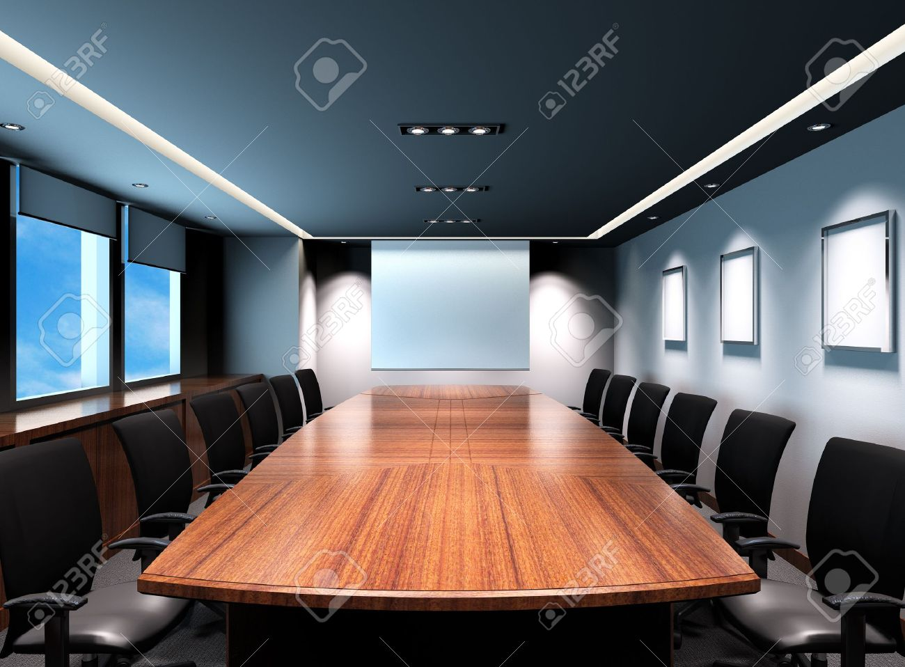 Business meeting room in office with modern decoration Stock Photo - 15750616