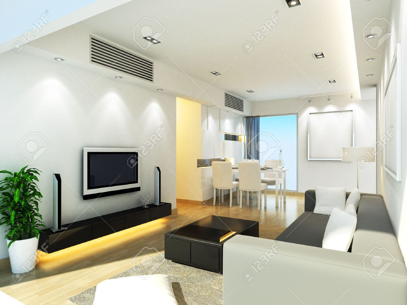 Modern Living Room Ceiling Design Modern Living Room Design Stock Photo Picture And Royalty Free