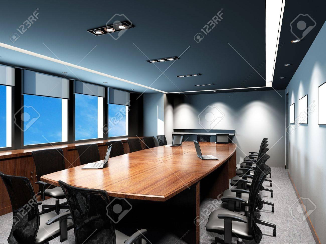 Agreable Banque Du0027images   Salle De Réunion Du0027affaires Dans Le Bureau Avec Une  Décoration Moderne