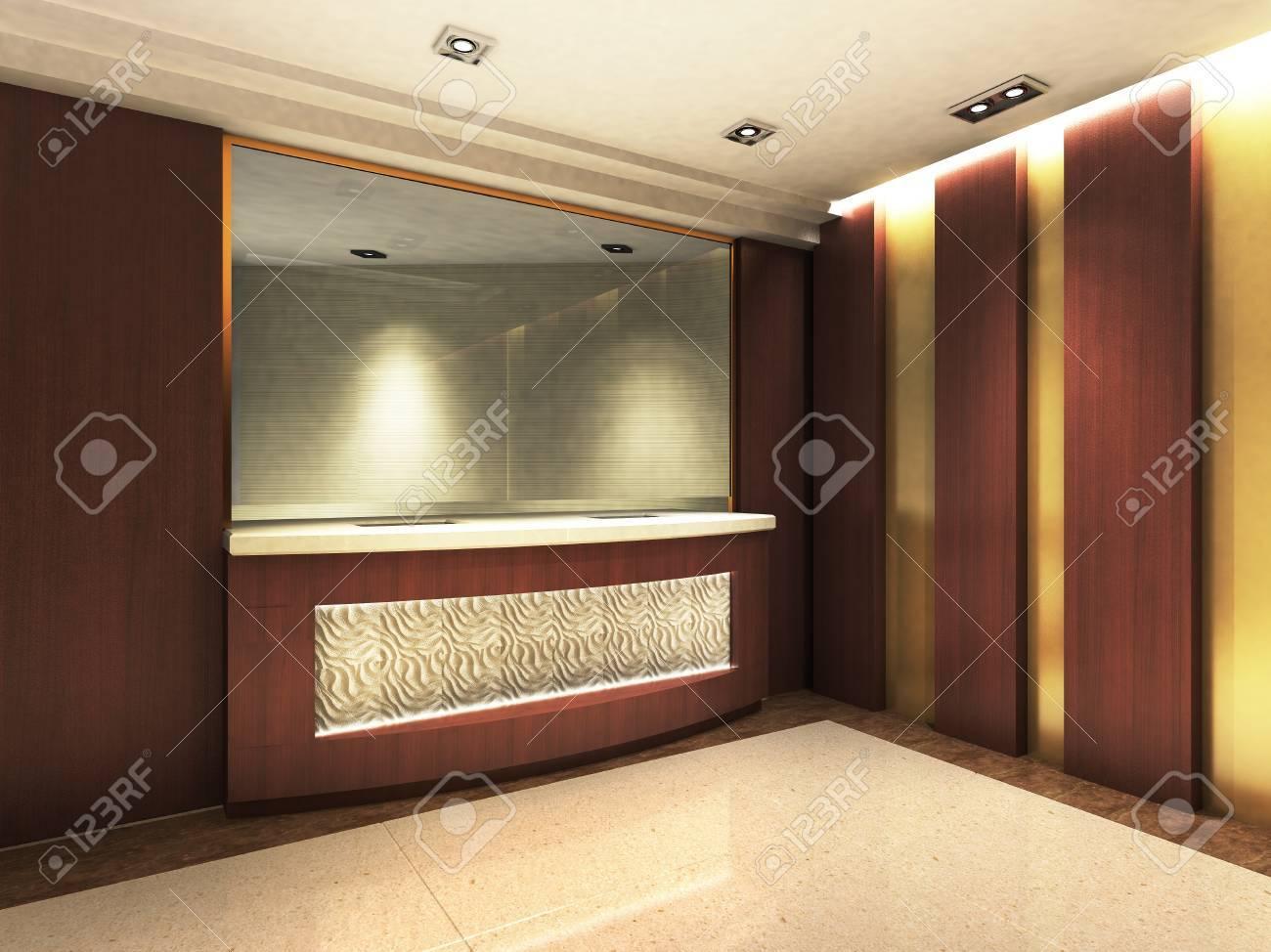 Une zone de réception dans un immeuble de bureaux banque d images