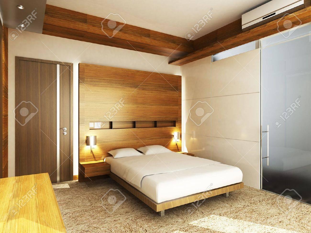 Chambre à coucher moderne dans un style minimaliste