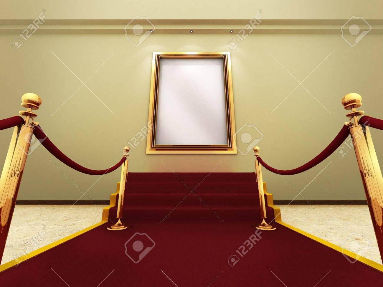 Marco De La Imagen De Oro En Un Gran Galería Fotos, Retratos ...