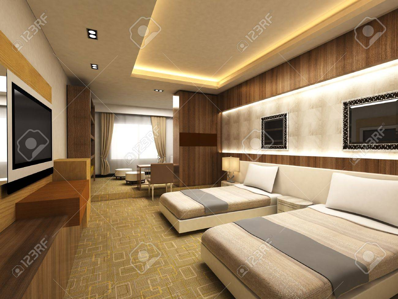 Modern bedroom Stock Photo - 15750908