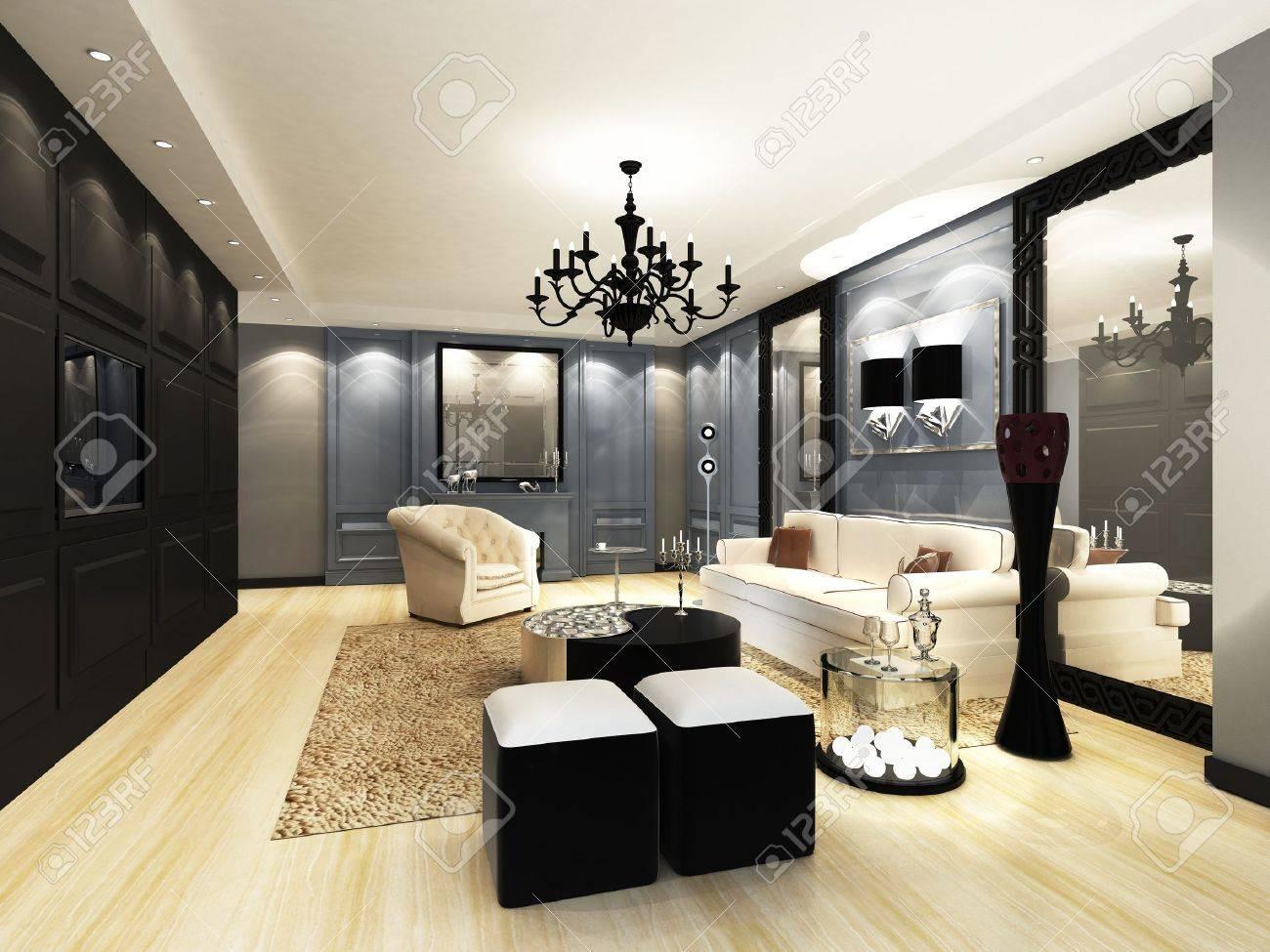 Elegant Living Room Stock Photo 15750871