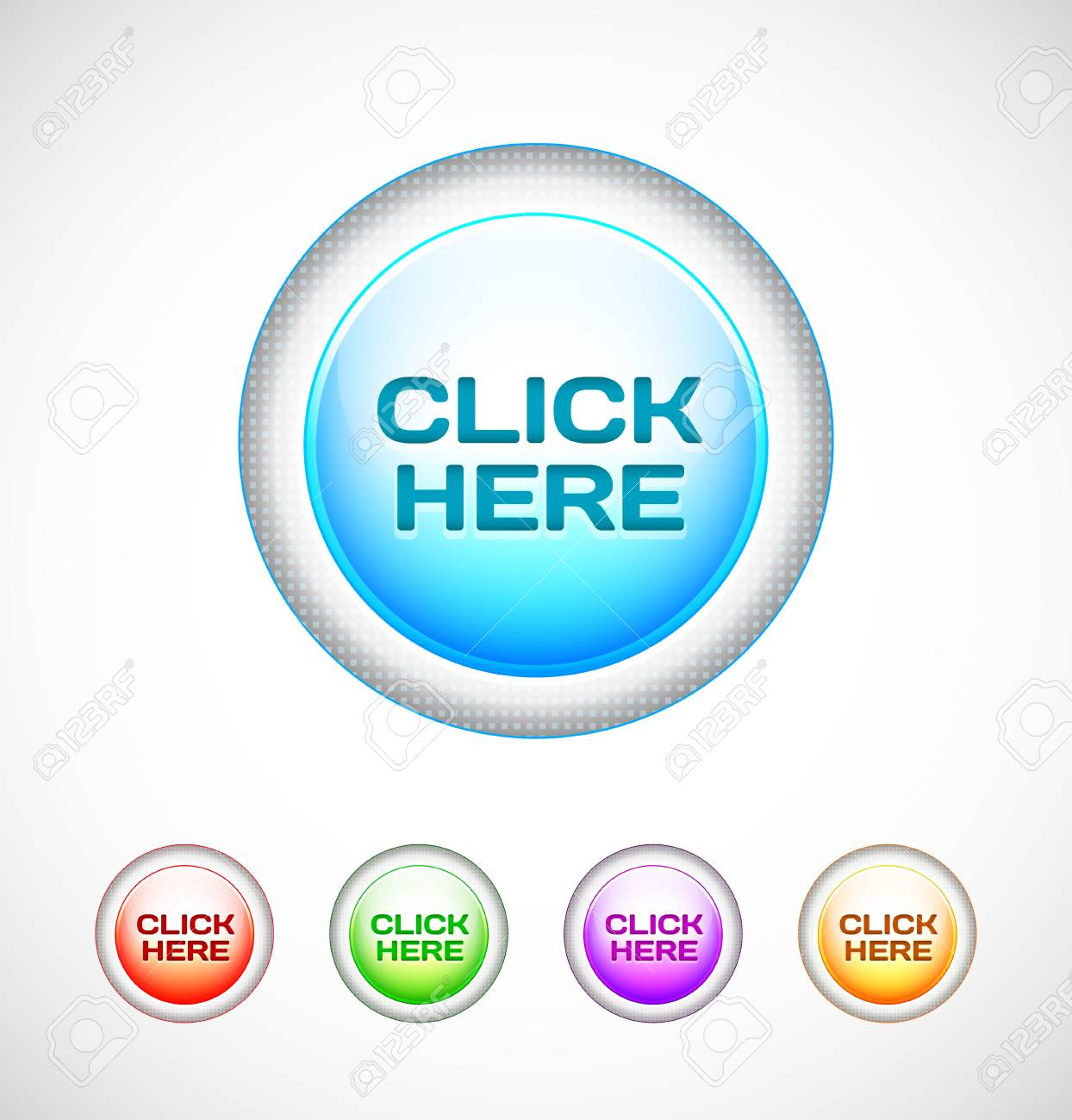 Round Web Buttons Stock Vector - 13170744