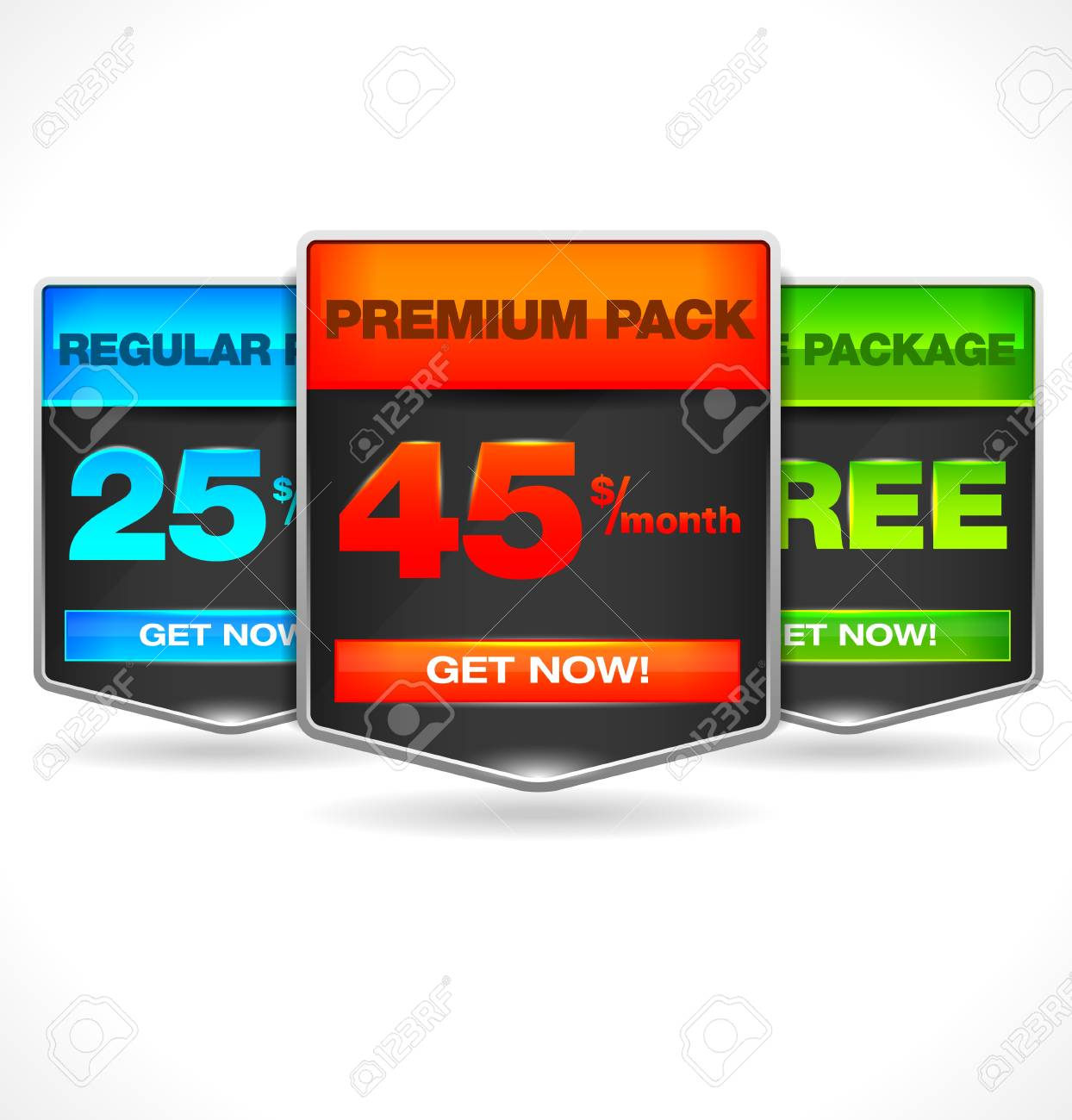 web element for buyig choise Stock Vector - 13222999