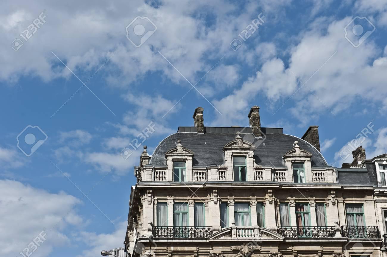 Traditionelle Wohnungen In Brüssel. Lizenzfreie Fotos, Bilder Und ...