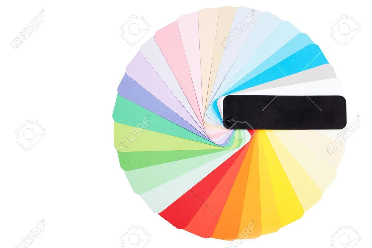 Kleur Veel Kleur : Round kleur pantone palet. veel kleuren monster op wit wordt