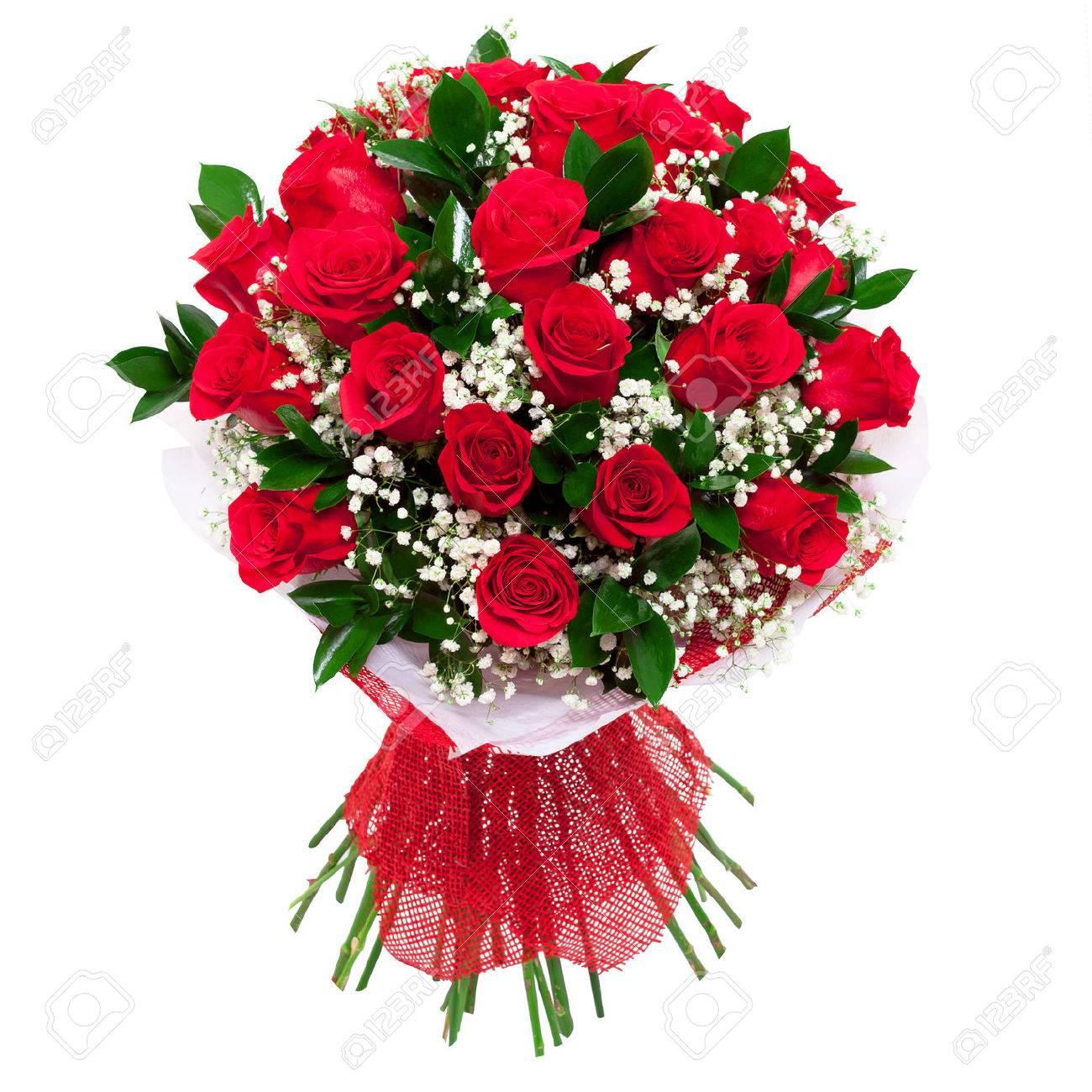 Bouquet De Roses Rouges Saturés Vives Un Cadeau Pour Une Femme Pour L Anniversaire La Saint Valentin