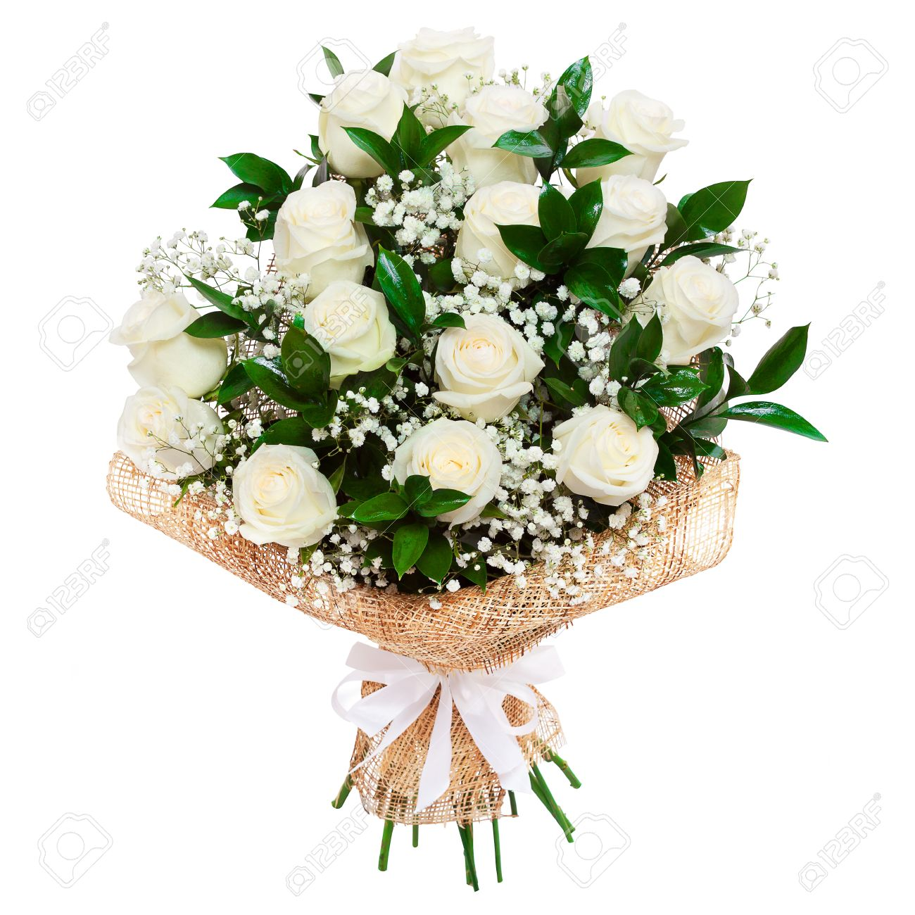 Funeral flowers stock photos royalty free funeral flowers images bouquet of beautiful white roses isolated on white a great gift to a woman for izmirmasajfo