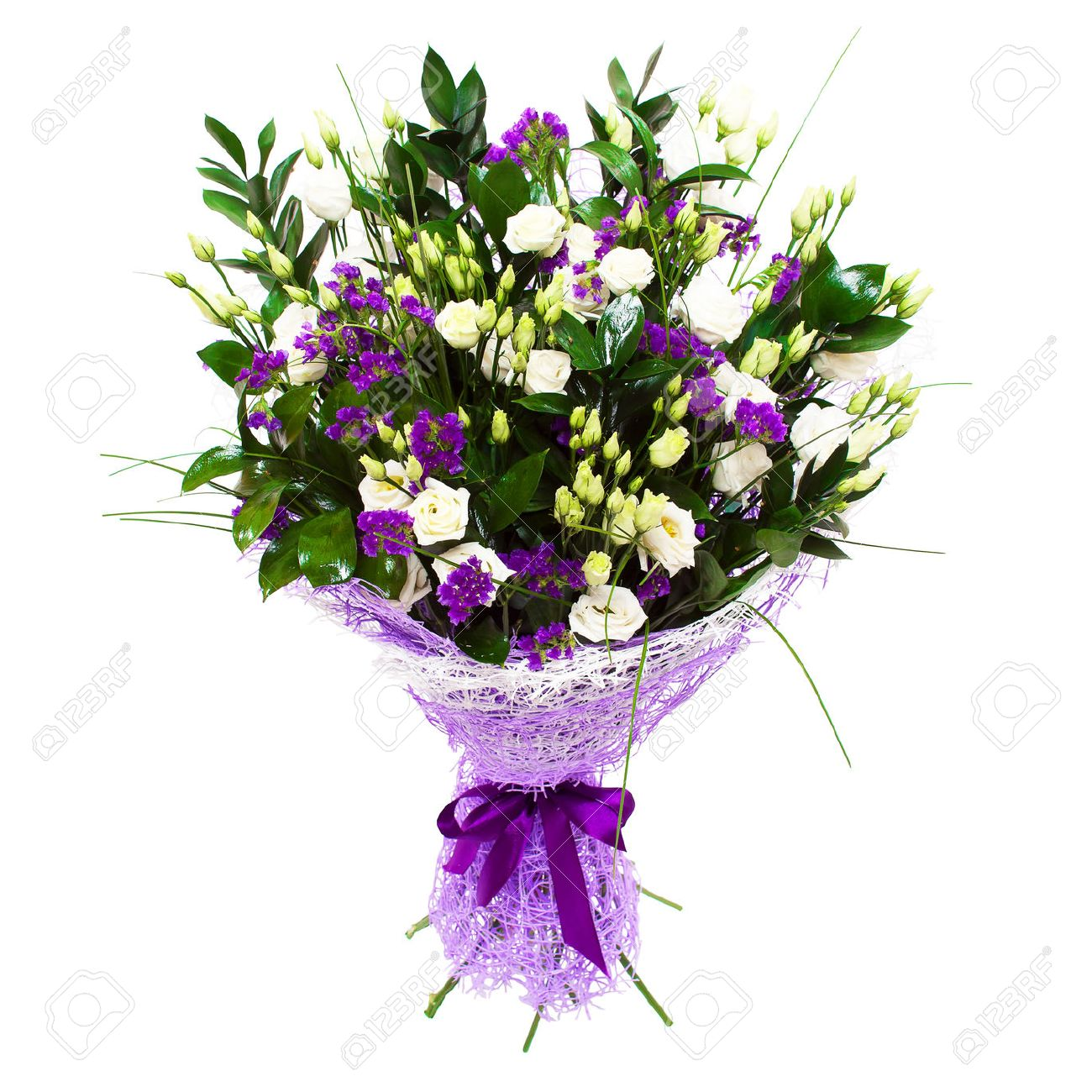 White small roses and violet purple flowers floral composition stock photo white small roses and violet purple flowers floral composition bouquet izmirmasajfo