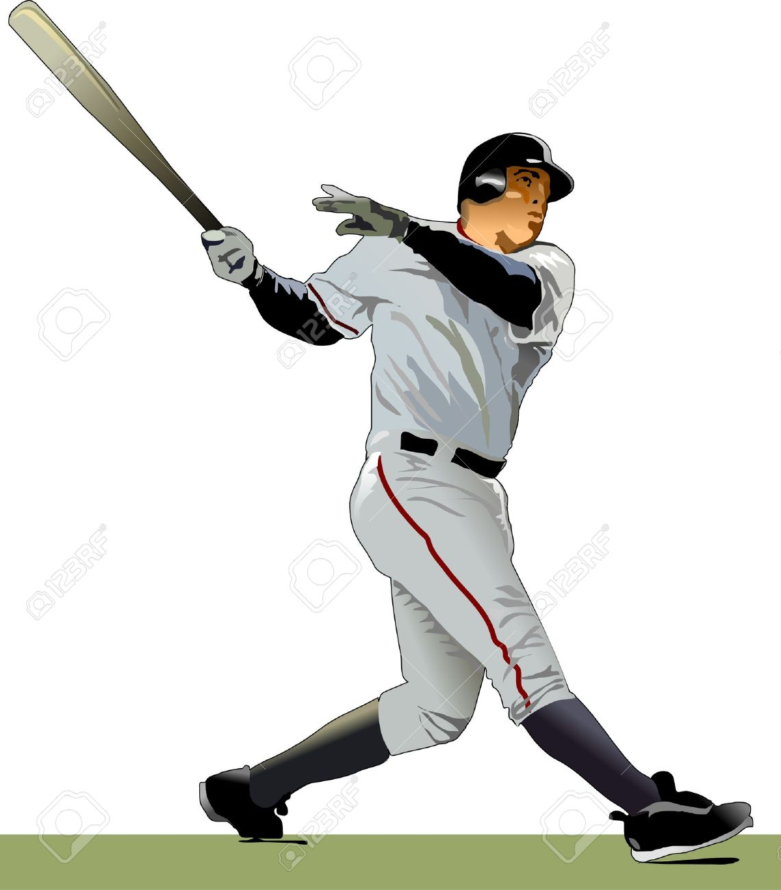 baseball batter illustration royalty free cliparts vectors and rh 123rf com Baseball Logos Clip Art Baseball Logos Clip Art