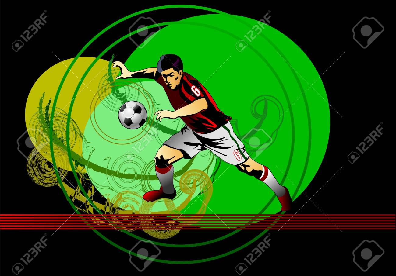 Soccer player Stock Vector - 13920090