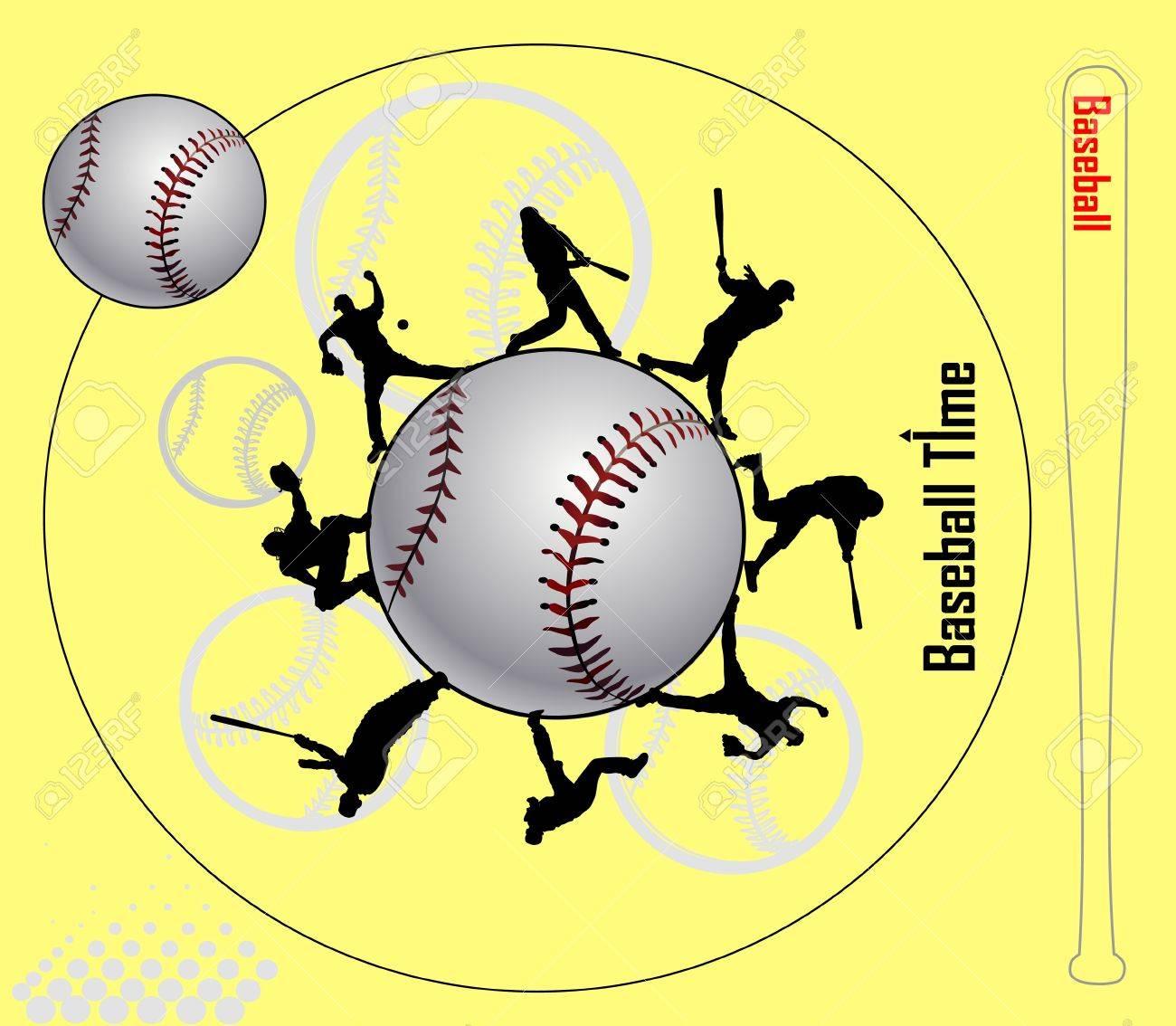 Baseball Illustration Stock Vector - 13959702