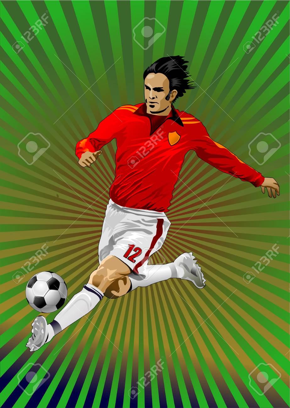a soccer player Stock Vector - 13959664