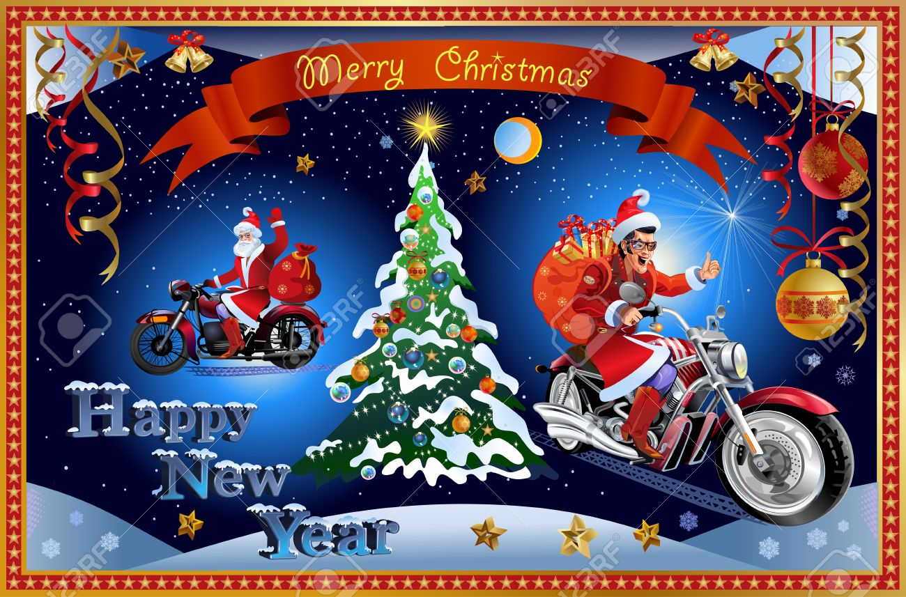 Merry Christmas Santa Claus And New Year Royalty Free Cliparts ...