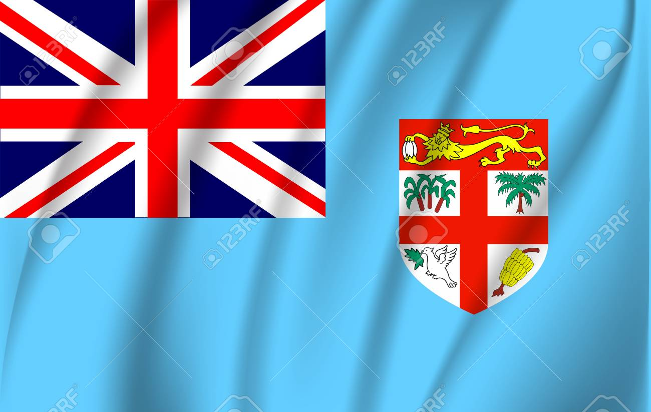 Realistic Waving Flag Of Fiji The Waving Flag Of Fiji High