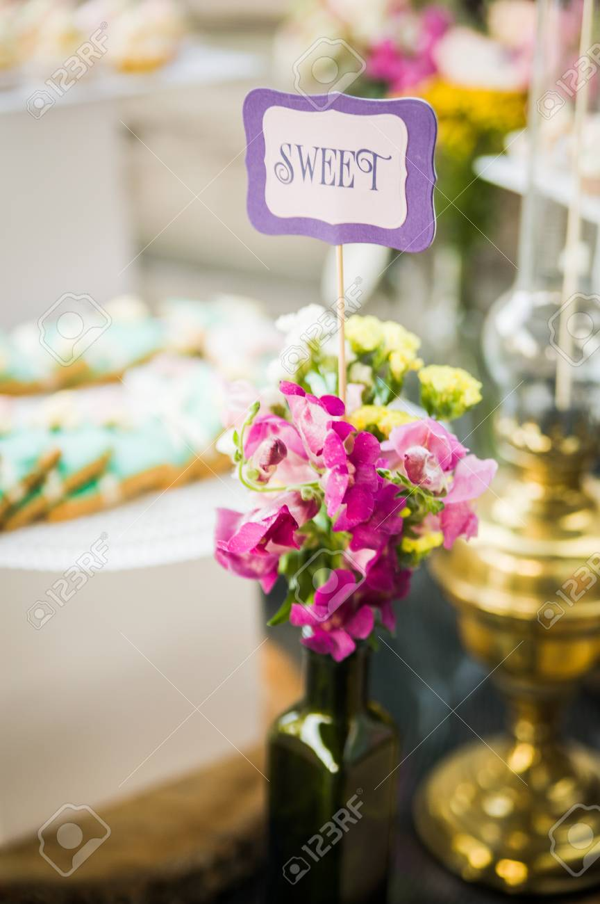 stock photo wedding decor at restaurant with all beauty and flowers