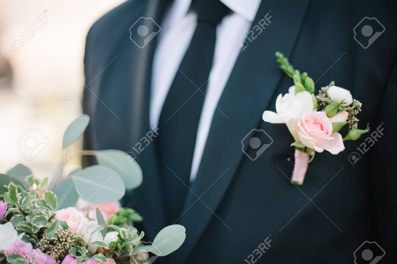 Pinning A Boutonniere For Groom On Wedding Day Stock Photo Picture And Royalty Free Image Image 52869427