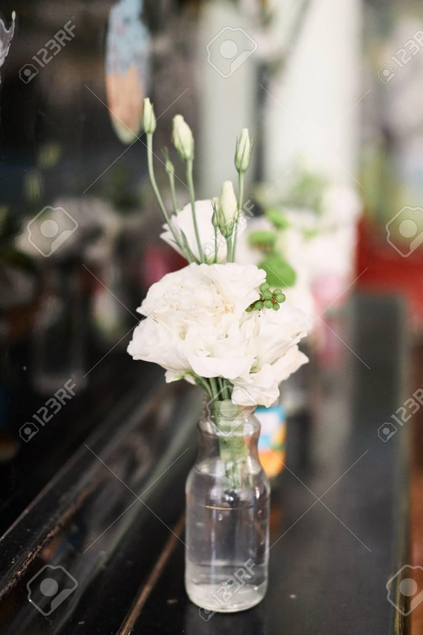 Hochzeitsdeko Blumenstrauss Hochzeitsdekoration Idee Lizenzfreie