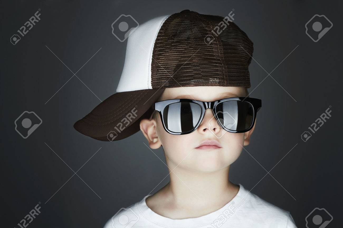 7381a228234 Little Boy.Hip-Hop Style. Fashion Children.handsome In Sunglasses.in ...
