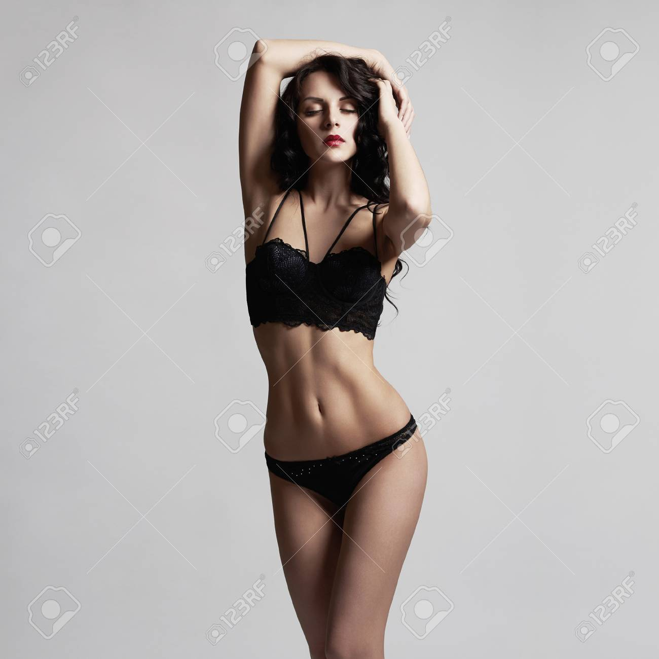 74cfefa7180a beautiful girl in lingerie. Sexy young woman in underwear Stock Photo -  70072963