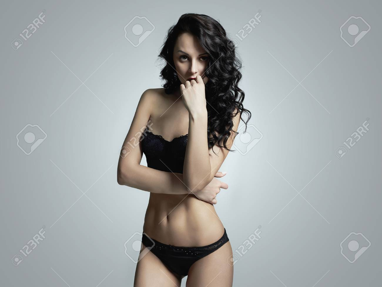 62fc805c5b99 beautiful girl in lingerie. Sexy young woman in underwear Stock Photo -  70072939