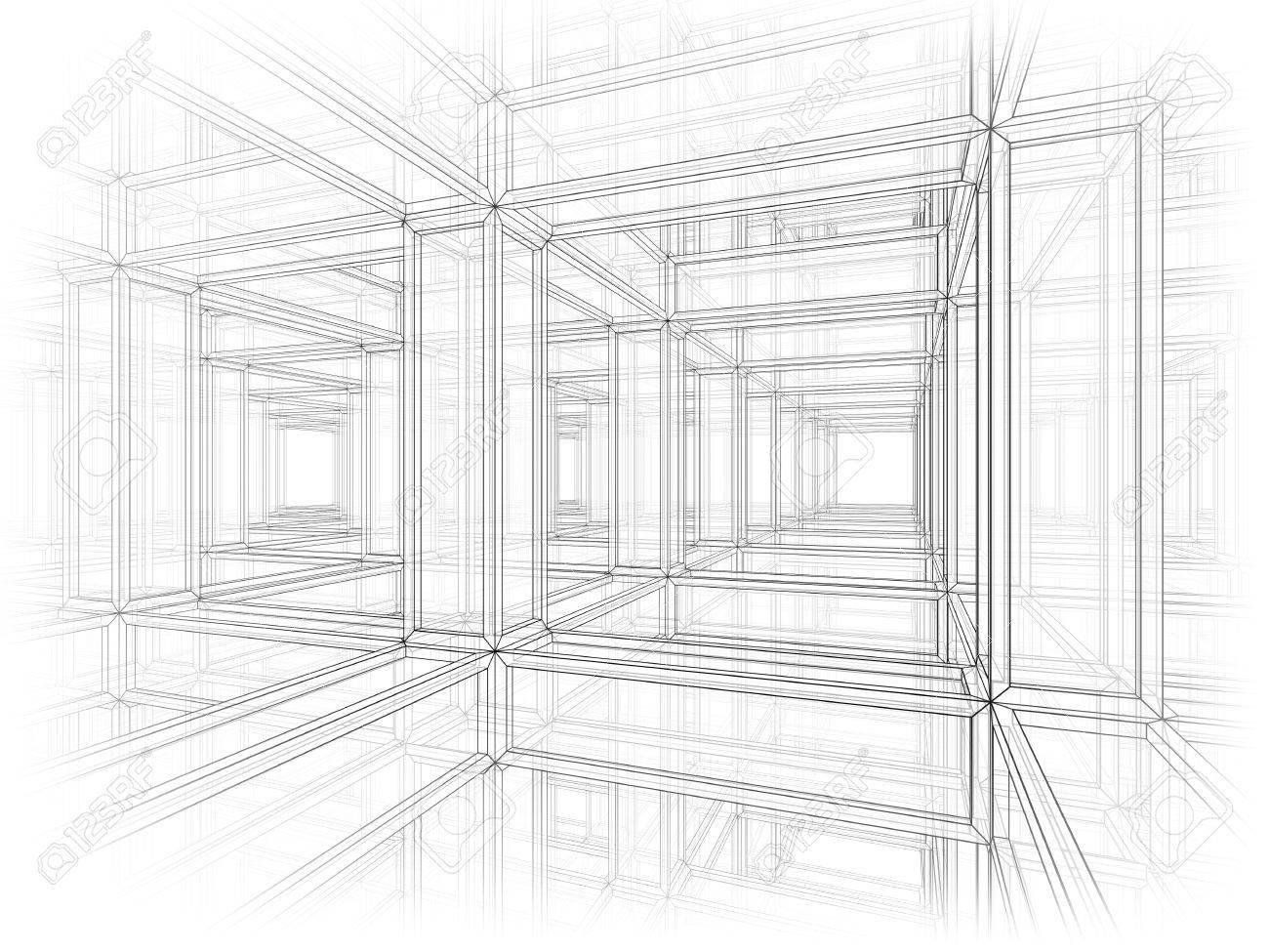 Arquitectura Abstracta Fondo Del Espacio Interior De Una ...
